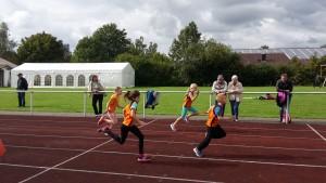 40m Sprint, v.l. Lillith Pfeiffer, Janina Kosub, Line Sophie Planz, Lukas Lang
